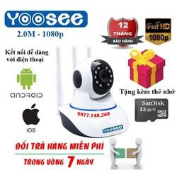 Camera yoosee 3 râu 2.0 FHD Tặng thẻ nhớ 32G BH 5 Năm