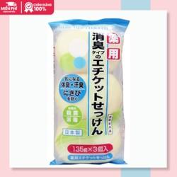 Set 3 xà phòng trị mụn lưng medicated etiquette soap |xa phong tri mun lung xuất xứ Nhật 135gx3
