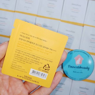Sample kem Chống Nắng In nisfree Perfect UV Protaction Cream Anti Pollution SPF50+ PA++++ - Sample-innisfree-anti-polution 3