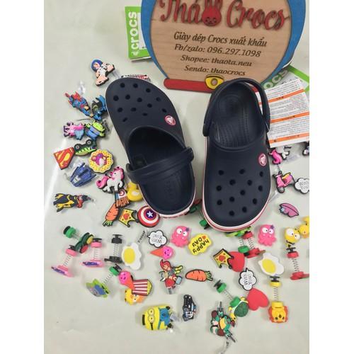 Sục nhựa Croc.s-Band trẻ em-Xanh đen chính hãng
