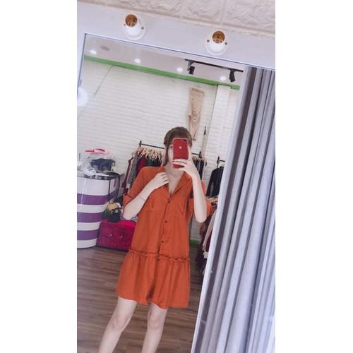 Đầm kate tay dài
