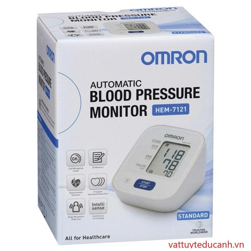 Máy đo huyết áp bắp tay Omron HEM-7121 Tặng 1 nhiệt kế điện tử { CAO CẤP }