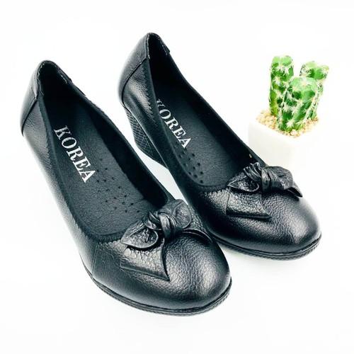 Giày nữ, giày da nữ, giày nữ da thật cao 5cm bảo hành da 1 năm