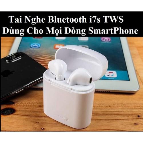 Giá Sập Sàn 1 Ngày Duy Nhất - Tai Nghe Không Dây i7s 2019 - Tai Nghe Bluetooth - Nghe Nhạc âm thanh sống động chất lượng