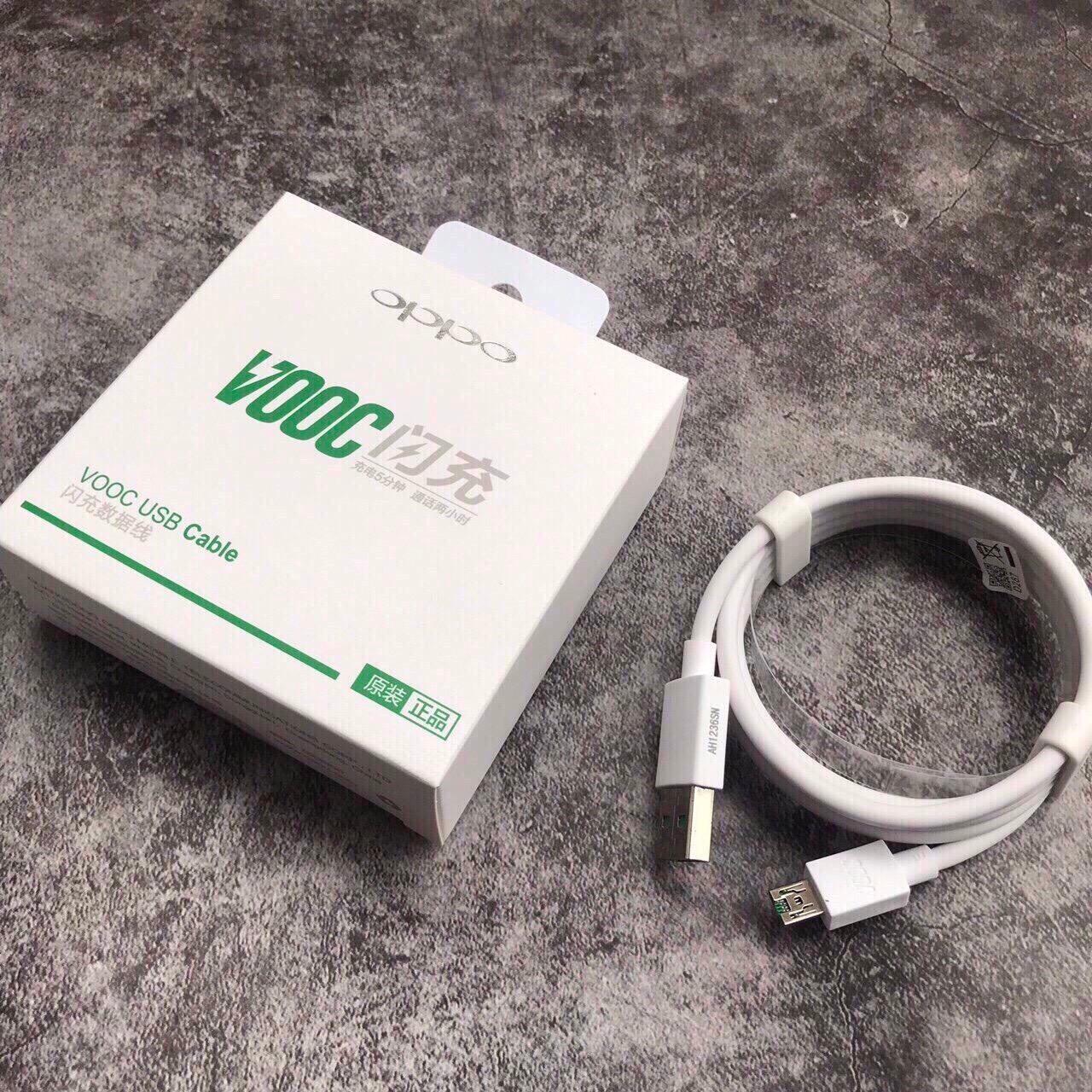 Cáp sạc Vooc cho Oppo F9 và các dòng khác hỗ trợ công nghệ sạc nhanh  VOOC OPPO Full box