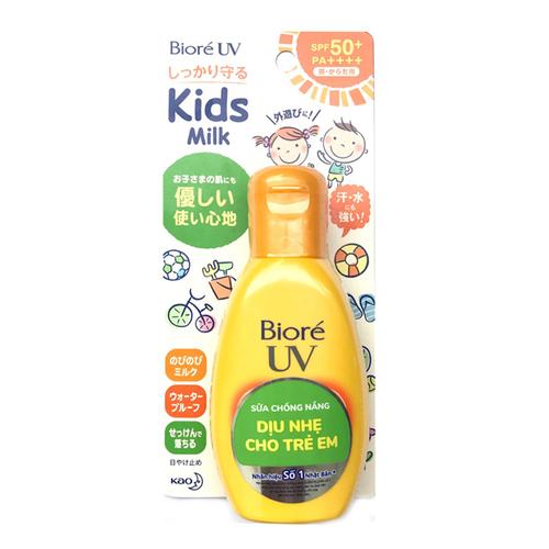 Sữa chống nắng cho trẻ em Biore UV Kids Milk SPF50+ PA++++ 90ml mẫu mới - 11816669 , 19191033 , 15_19191033 , 215000 , Sua-chong-nang-cho-tre-em-Biore-UV-Kids-Milk-SPF50-PA-90ml-mau-moi-15_19191033 , sendo.vn , Sữa chống nắng cho trẻ em Biore UV Kids Milk SPF50+ PA++++ 90ml mẫu mới