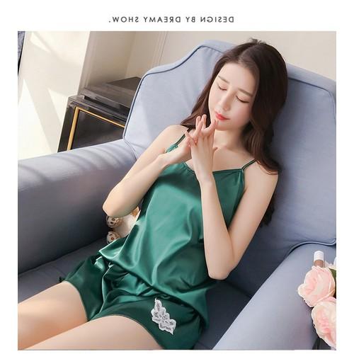 Bộ đồ ngủ nữ 2 dây vải lụa mềm mịn mát lạnh thêu hoa đùi JOY-SX335 - 11811048 , 19182074 , 15_19182074 , 158000 , Bo-do-ngu-nu-2-day-vai-lua-mem-min-mat-lanh-theu-hoa-dui-JOY-SX335-15_19182074 , sendo.vn , Bộ đồ ngủ nữ 2 dây vải lụa mềm mịn mát lạnh thêu hoa đùi JOY-SX335