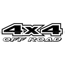 Bộ 2 Tem decal xe bán tải 4x4 off road