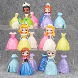 Mô Hình 06 Nhân Vật Búp Bê Công Chúa Disney Thay Váy- Mẫu 03