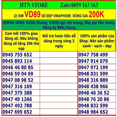 Sim 4g vinaphone VD89 số đẹp giá rẻ đồng giá 200k-2 tặng 62GB data, miễn phí gọi nội mạng, 50p ngoại mạng - 11814175 , 19187165 , 15_19187165 , 200000 , Sim-4g-vinaphone-VD89-so-dep-gia-re-dong-gia-200k-2-tang-62GB-data-mien-phi-goi-noi-mang-50p-ngoai-mang-15_19187165 , sendo.vn , Sim 4g vinaphone VD89 số đẹp giá rẻ đồng giá 200k-2 tặng 62GB data, miễn phí