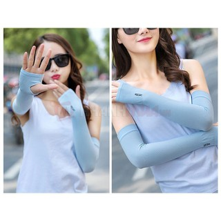 Găng tay xỏ ngón chống nắng-găng tay chống nắng Hàn Quốc-găng tay nữ chống tia UV - GTCNHQ001-Z thumbnail