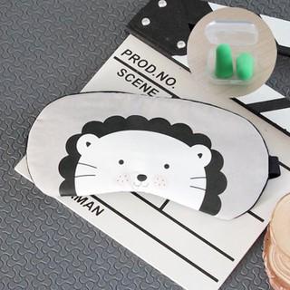 Miếng bịt mắt có túi gel làm mát kèm 2 cặp nút bịt tai giảm tiếng ồn hoạ tiết cún con màu xám MBM33 - MBM33 thumbnail