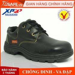 Giày bảo hộ lao động XP mũi và lót thép chống đinh chống dập ngón chống nước (xanh đen)