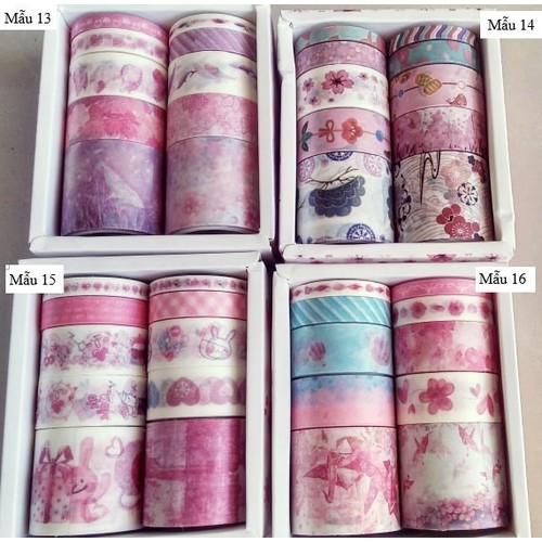 Băng dán washi tape 10 cuộn nhiều mẫu HÀNG MỚI VỀ