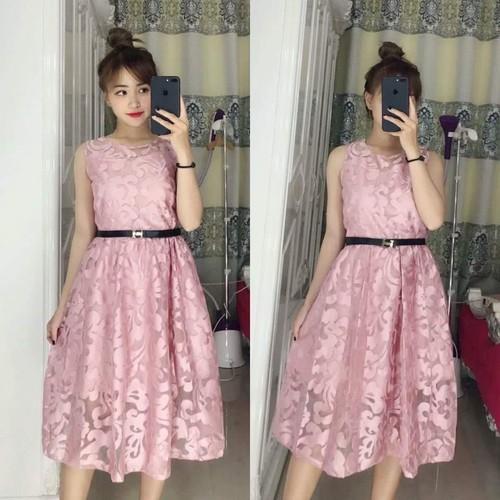 Đầm Xòe Phối Ren Thời Trang