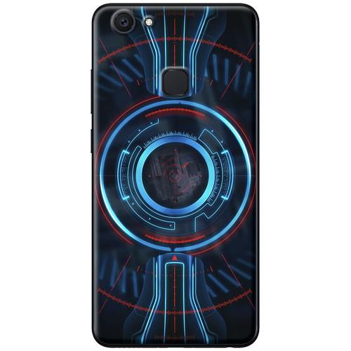 Ốp lưng nhựa dẻo Vivo V7 Plus mẫu Vòng tròn xanh