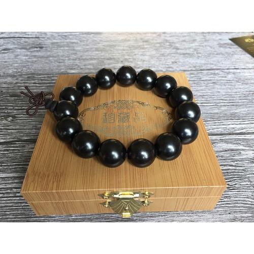 Vòng tay gỗ Mun Sừng đen 15mm - 11825494 , 19203297 , 15_19203297 , 278000 , Vong-tay-go-Mun-Sung-den-15mm-15_19203297 , sendo.vn , Vòng tay gỗ Mun Sừng đen 15mm