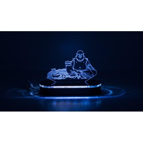 Đèn led 3d|mô hình tượng phật di lặc nhỏ