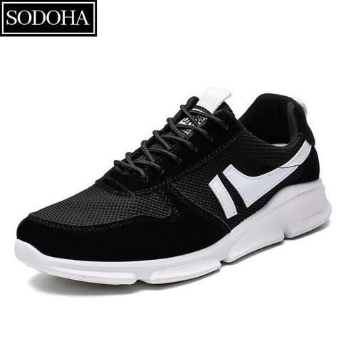 Giày nam thể thao sodoha 0816bb đen phối trắng