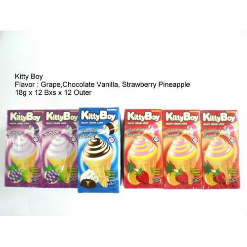 Bánh ốc quế kem kitty boy lốc 12 hộp tuỳ chọn màu vị - 17201579 , 19220770 , 15_19220770 , 65000 , Banh-oc-que-kem-kitty-boy-loc-12-hop-tuy-chon-mau-vi-15_19220770 , sendo.vn , Bánh ốc quế kem kitty boy lốc 12 hộp tuỳ chọn màu vị