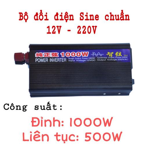 Bộ đổi điện sin chuẩn 1000W 12V sang 220V - 11181161 , 19235102 , 15_19235102 , 730000 , Bo-doi-dien-sin-chuan-1000W-12V-sang-220V-15_19235102 , sendo.vn , Bộ đổi điện sin chuẩn 1000W 12V sang 220V