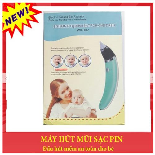 Máy hút mũi trẻ em dùng pin sạc đầu hút mềm an toàn cho bé - 17208329 , 19235640 , 15_19235640 , 189000 , May-hut-mui-tre-em-dung-pin-sac-dau-hut-mem-an-toan-cho-be-15_19235640 , sendo.vn , Máy hút mũi trẻ em dùng pin sạc đầu hút mềm an toàn cho bé