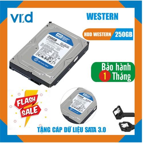 Ổ cứng HDD 250G Western Tặng cáp sata 3.0 - Hàng nhập khẩu bóc máy - bảo hành 1 tháng