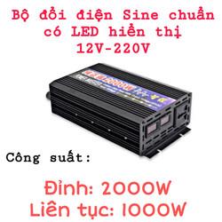 Bộ đổi điện sin chuẩn 2000W 12V sang 220V