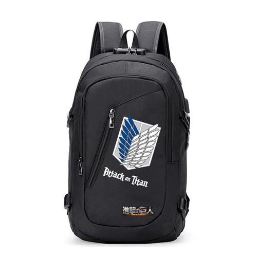 Balo chéo túi đeo Attack On Titan Kèm Cổng USB