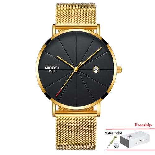 Đồng hồ nam nibosi 2321 [1985] chính hãng - full box dây thép lưới