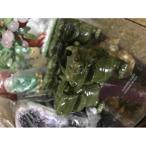 Cặp tỳ hưu xanh mệnh mộc hoả thuỷ đá sprentin 13cm 700k