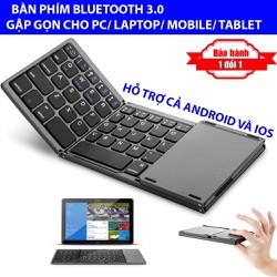 Bàn phím Bluetooth gấp 3 rút gọn Bluetooth 3.0 cho Điện Thoại Máy Tính Bảng Laptop PC - Hỗ trợ cả Android và IOS
