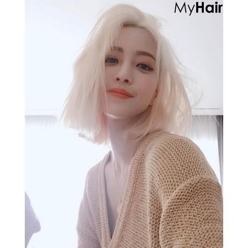Thuốc nhuộm tóc cao  cấp màu bạch kim + oxy +bột tẩy