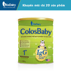 sữa bột COLOSBABY 600 IgG 1+ 800G - S