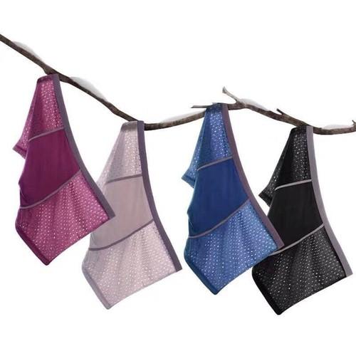 Hộp 4 quần sịp lưới nam quần lót nam lỗ nhiều màu