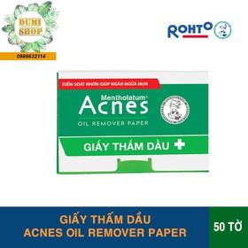 Giấy thấm dầu Acnes Oil Remover Paper dành cho da nhờn bịch 50 tờ - 1GIAYTHAMDAU