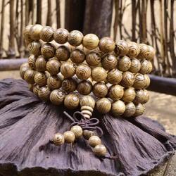 Vòng chuỗi 108 hạt gỗ muồng vân tự nhiên tphcm