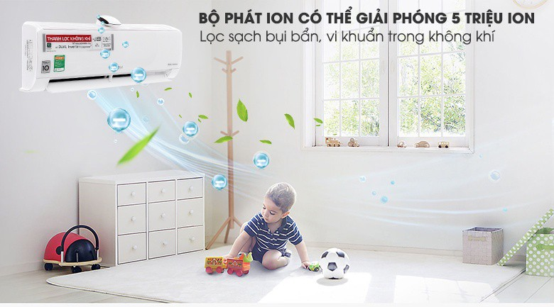 4 chế độ gió - Máy lạnh LG Wifi Inverter 1 HP V10APF