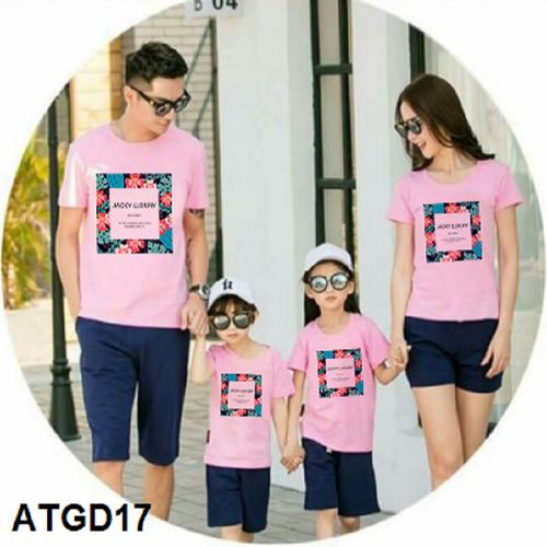 [Hot hot] áo thun gia đình - đi biển - nhóm in họa tiết hoa siêu hot đủ màu đủ size - atgd17