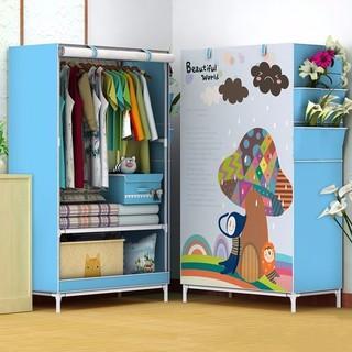 Tủ vải quần áo 3D 1 buồng- tủ vải đựng quần áo- tủ vải 3D - TVQA3D1B001-Z thumbnail