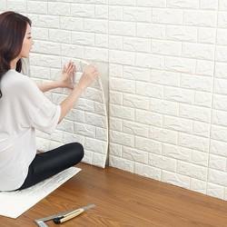 Bộ 10 miếng xốp dán tường- xốp giả gạch dán tường - Bộ 10 miếng xốp dán tường