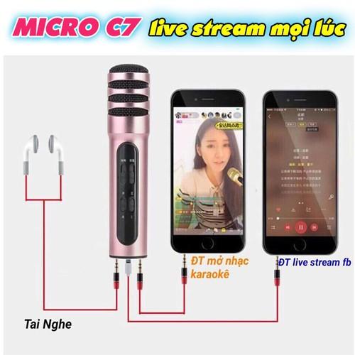 Micro livestream và karaoke