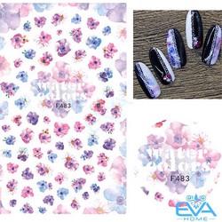 Miếng Dán Móng Tay 3D Nail Sticker Tráng Trí Hoạ Tiết Bông Hoa F483