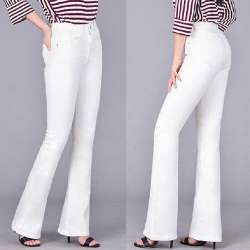 Quần jean nữ ống loe trắng co giãn cao cấp - 11339749 , 19275945 , 15_19275945 , 300000 , Quan-jean-nu-ong-loe-trang-co-gian-cao-cap-15_19275945 , sendo.vn , Quần jean nữ ống loe trắng co giãn cao cấp