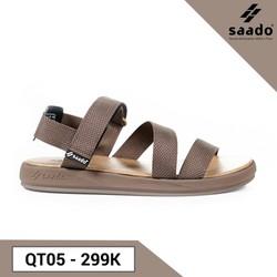 Giày sandal nữ Saado Viên Kẹo Ngọt QT05, giày quai dù đế phylon, giày đi học thời trang đi mưa siêu êm siêu nhẹ