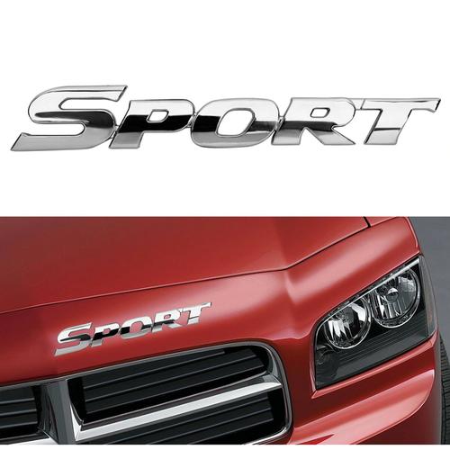 Tem Logo Nổi Chữ 3D Dán Trang Trí Ô Tô Xe Máy SPORT