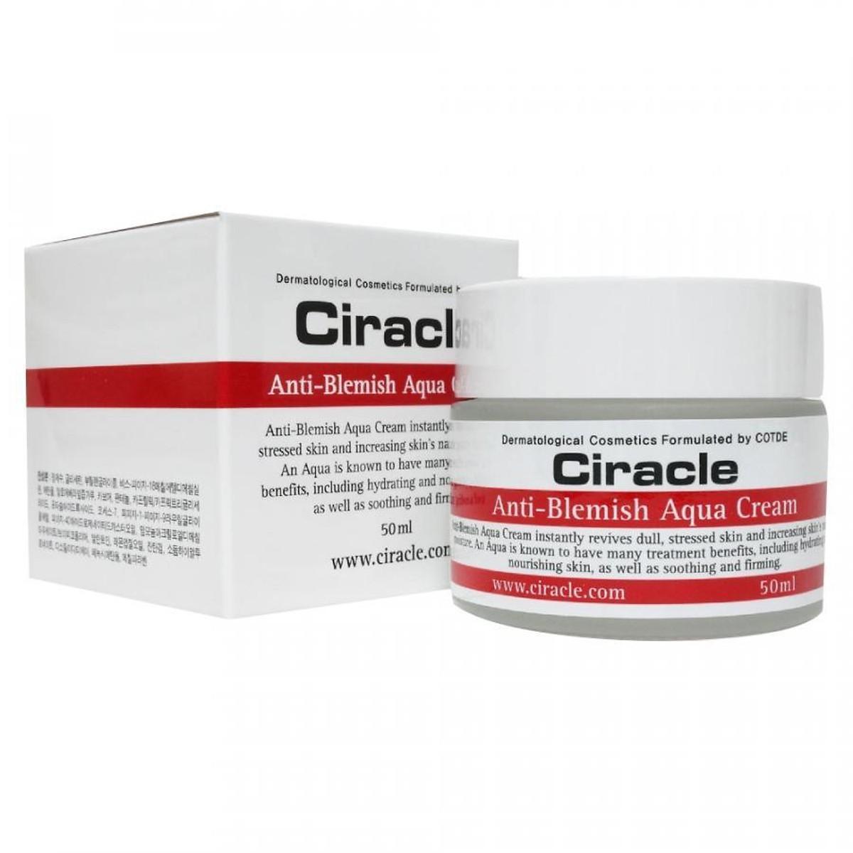 Gel Dưỡng Da Mụn Ciracle 50ml  Ciracle Anti Blemish Aqua Cream