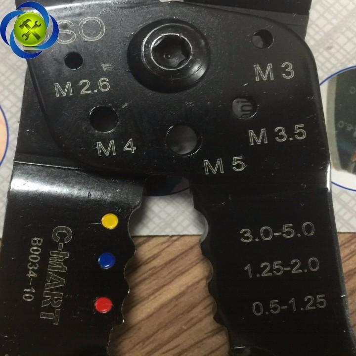Kềm cắt tuốt bấm cos dây điện C-Mart B0034-10 4