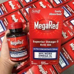 Viên uống hỗ trợ tim mạch Schiff Megared O.mega 3 hộp 80 viên