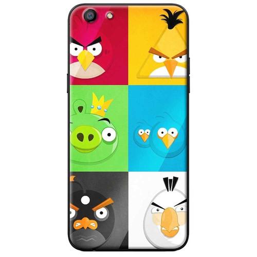 Ốp lưng nhựa dẻo Oppo A71 Angry Birds